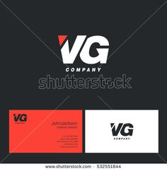 V & G Letters Logo with Business Card Template
