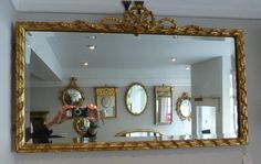 Edwardian carved wood gilt mirror with bevelled glass. www.annabellesgiltshop.co.uk