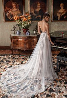 julie vino spring 2018 bridal sleeveless illusion halter neck sweetheart neckline romantic modified a  line wedding dress open back chapel train (09) bv