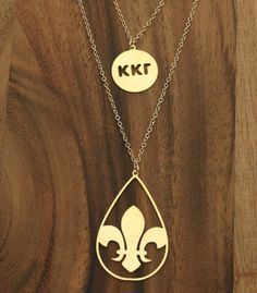 Smart greek kappa kappa gamma necklace.