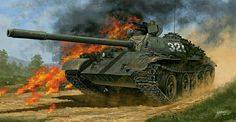 Viet-Cong's tank in battle- by Johnny Shumate Warsaw Pact, Soviet Army, Armored Fighting Vehicle, Military Modelling, Battle Tank, Armored Vehicles, Military Art, Vietnam War, Warfare