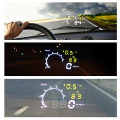 OBD II OBDII Car HUD Universal Car Interface HUD Fuel icon Head Up Display LCD