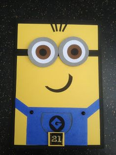 Look what I've gone and done (Blog) My try at a Minion Birthday card my Daughter requested