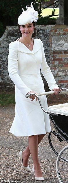 Kate Middleton at Princess Charlotte's christening