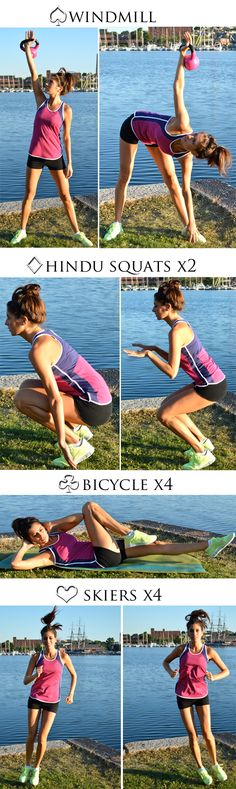 Oblique-Burner Deck of Cards Workout. You'll really feel this one in your sides the next day!