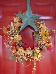 Fall Decorating Ideas - I LOVE this wreath...gorgeous.