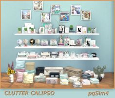Sims 4. Clutter Calipso by pqSim4 http://pqsim4.blogspot.com.by/2018/02/clutter-calipso-sims-4-custom-content.html