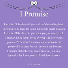 I Promise - romantic wedding poem by Ms Moem @msmoem - for more wedding poems visit msmoem.com