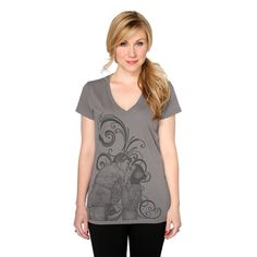 """Her Universe """"I LOVE YOU I KNOW V-NECK"""" ($25.00) ~ """"We heard your requests to bring back this shirt, so we are excited to pull this beautiful design from our Her Universe vault! Originally released in 2010, this popular v-neck was a part of our debut collection. Featuring original art by renowned artist, Cat Staggs, we whimsically showcase that famous scene from Star Wars: The Empire Strikes Back where Princess Leia says, 'I Love You' and Han Solo says, 'I Know.'"""""""