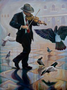 Kai Fine Art is an art website, shows painting and illustration works all over the world. Piano Y Violin, Violin Art, Sad Pictures, Music Pictures, Music Artwork, Art Music, Mark Keller, Mundo Musical, Fabian Perez