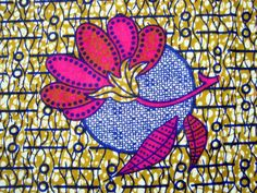 African wax print fat quarter 100 cotton Hot Pink by ChilliPeppa