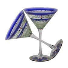 Floral Martini Glass (Set of 2)