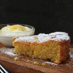 A delicious Gluten Free Lemon Polenta Cake