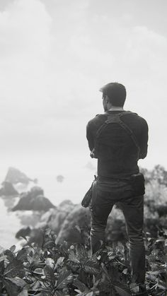 B&W run. #uncharted #uncharted4 #uncharted4athiefsend #nathandrake…