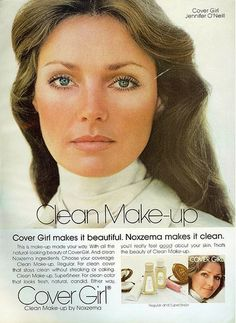 1975 (Jennifer O-Neill). Very classic, very clean makeup.