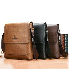 1914899573cf PU Leather Business Casual Crossbody Bag For Men is worth buying - NewChic  Mens Travel Bag