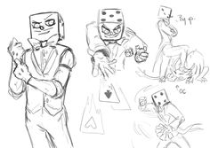 King Dice doodles part 3 (i think?) Only the dice man this time, no devil :> prolly gonna take a while to finish the snake eyes painting i'm working on so please be patient :>>> Tom Gates, Cuphead Game, Au Ideas, Deal With The Devil, Eye Painting, Cartoon Sketches, Bendy And The Ink Machine, Undertale Comic, Nerd Geek