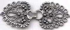 Norwegian Pewter Clasps