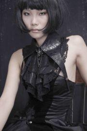 Dark Romantic Gothic Kragen mit Rüschen & Schnürung