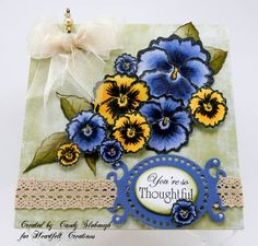 Pansies by Candy S. - Cards and Paper Crafts at Splitcoaststampers