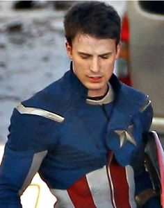 Chris Evans as Cap. He is definitely my favorite Avenger.