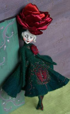 Annely. OOAK art doll by UgglaDolls on Etsy