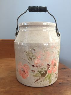 Antique Painted Jug (2) by TheFarmFindsShop on Etsy