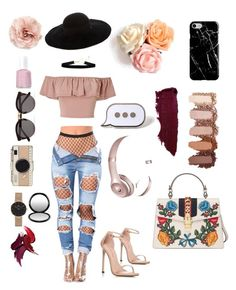 """FLOWER SUMMER"" by fashionhastosmile ❤ liked on Polyvore featuring Miss Selfridge, Illesteva, Eugenia Kim, Recover, Beats by Dr. Dre, Kate Spade, PINTRILL, Daniel Wellington, Essie and Cara"
