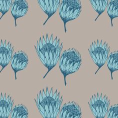 King protea - pastel tone. #flower #kingprotea #africa #pattern #design #pendrawing King Protea, Textures Patterns, Surface Design, Planting Flowers, South Africa, Screen Printing, Pattern Design, Doodles, Apd