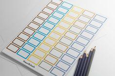 Printable Planner Stickers    Erin Condren    Half Box    Instant Digital Download  Planner Stickers Co.