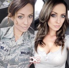 (notitle) - Chicks in Uniform - Miltiary Female Soldier, Female Marines, Army Soldier, Military Girl, Military Women, Girls Uniforms, Badass Women, Fit Women, Elegant Woman