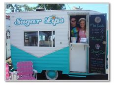 All Natural Shaved Ice Company Vintage Snow Cone Trailer