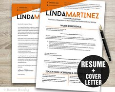 Resume Template  CV Template  Instant Download by BusinessBranding, $15.00