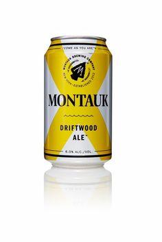 Montauk — The Dieline - Branding & Packaging Beverage Packaging, Bottle Packaging, Brand Packaging, Brewery Logos, Beer Brands, Pretty Packaging, Light Beer, Bottle Design, Kombucha