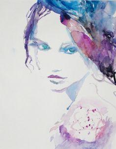 Raquel by Jessica Buhman #art #painting #watercolor #fashion