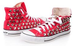 Polka Dot Converse - Red More  127827ac8d