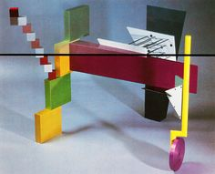 A photograph of a piece of furniture is not a piece of furniture; the same is true for painting, sculpture, architecture or whatever. Peter Shire, 1980s Design, Memphis Design, Group Work, Colorful Decor, Industrial Design, Bunt, Furniture Design, Chicago