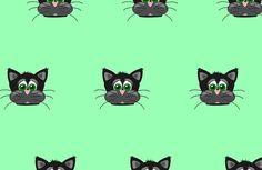 Cute cats,random pattern,lime green,grey,black,fun,kid,kids