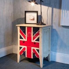 union jack clothes and shoes for babies Union Jack Bedroom, Industrial Furniture, Home Furniture, Union Jack Clothing, Kind Of Blue, Bedside Cabinet, My Dream Home, Milan, Indoor