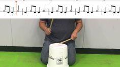 Uptown Funk Elementary Bucket Drum Follow Along