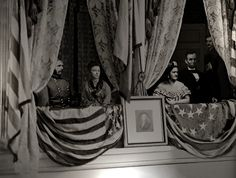 Abraham Lincoln's Last Day creepy that you can see what looks to me like John Wilkes Booth back there!