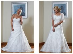 Gorgeous gowns from the Silhouette by Romantica of Devon collection, available to try on at Just The Way You Are.