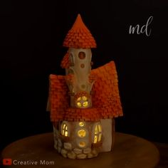 Not your typical fairy dream house ? By: Creative Mom Not your typical fairy dream house ? By: Creative Mom Diy Crafts Hacks, Diy Home Crafts, Diy Arts And Crafts, Clay Crafts, Creative Crafts, Fun Crafts, Crafts For Kids, Handmade Crafts, Clay Fairy House