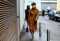 Phil Oh's Best Street Style Pics From Milan Fashion Week - Janice Alida in a Belstaff coat