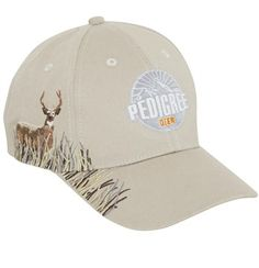 8730dcfc911 Style 671 DEER  Graduate (supported cotton chino twill Embroidery deco  details on side panel + edge of peak short fabric velcro strap Adult cms)