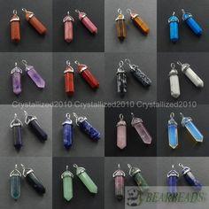 Mixed Gemstone Hexagonal Point Reiki Chakra Pendant Necklaces Beads 1Pcs 10Pcs #Unbranded #Pendant