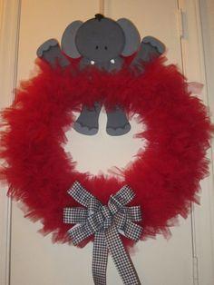 Alabama Tulle Wreath by fieldofpearls on Etsy, $45.00