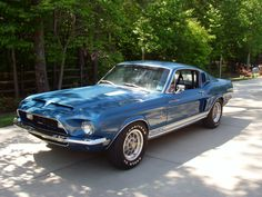 Ford Mustang Generations: The Most Popular Ford Mustang : 1968 Ford Mustang Shelby King of the Road Ford Mustang 1968, Blue Mustang, Ford Mustang Shelby Gt500, Ford Mustangs, Gt Mustang, Shelby Gt 500, Ford Shelby Cobra, Shelby Car, Pony Car