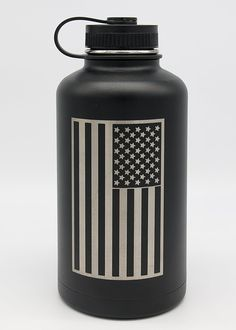 64 Oz Insulated BPA Free Water Bottle | Stainless Steel Beer Growler Decorated w/ the American Flag >>> This is an Amazon Affiliate link. To view further for this item, visit the image link.