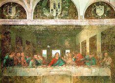 LEONARDO The Last Supper   1498 ; Fresco, 460 x 880 cm (15 x 29 ft); Convent of Santa Maria delle Grazie (Refectory), Milan